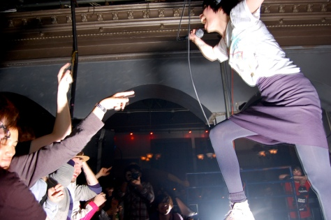Alice Glass jumps the crowd, Photo from Google Images